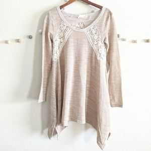 A'Reve Tan Lace high low top